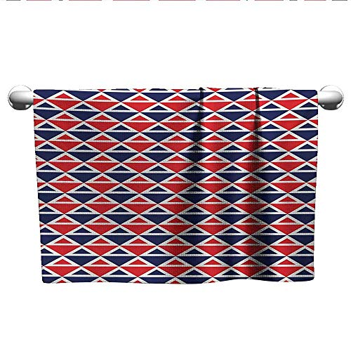 (alisoso Americana,Dish Towels USA Flag Inspired Abstract Pattern Squares and Triangles Artwork Eco-Friendly Red Dark Blue and White W 14