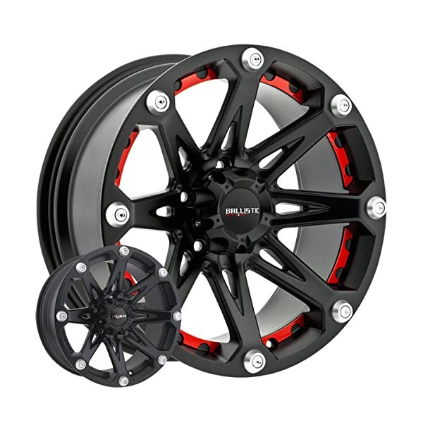 Ballistic-Jester-17×9-Black-Wheel-Rim-5×45-with-a-12mm-Offset-and-a-8370-Hub-Bore-Partnumber-814790545-12FB