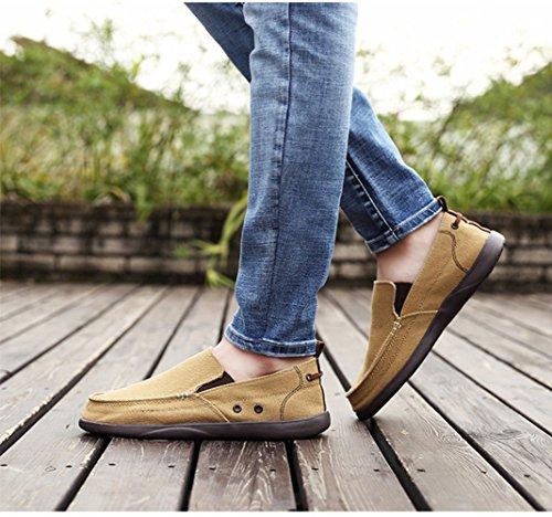 Scarpe Uomo Moda Guida Scarpe Khaki Scarpe Scarpe Scarpe Da Casual Pigri Traspiranti Mocassini Da Estate 7HqAwxgp