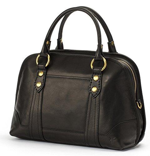 Handbag Black FRYE Melissa Leather Satchel Domed BZgU7
