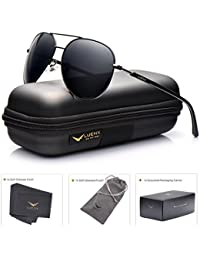 Men Aviator Sunglasses Polarized Women - UV 400 with case...