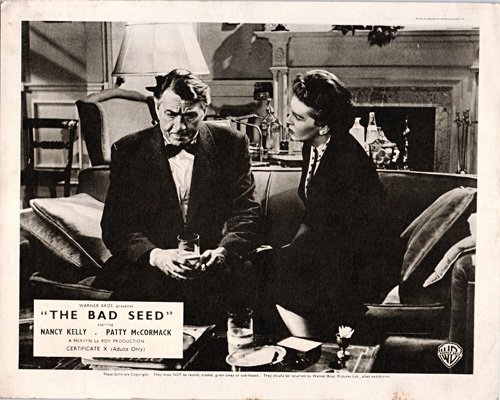 THE BAD SEED ORIGINAL BRITISH LOBBY CARD NANCY KELLY PAUL FIX
