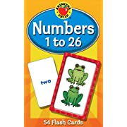 Numbers 1 to 26 Flash Cards, Grades PK - 1 (Brighter Child Flash Cards)