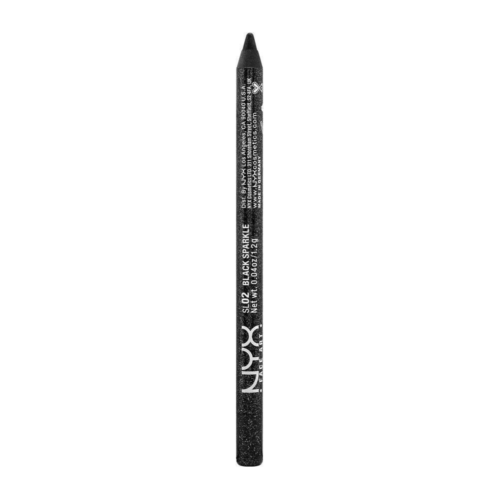 NYX PROFESSIONAL MAKEUP Slide On Pencil, Waterproof Eyeliner Pencil, Black Sparkle