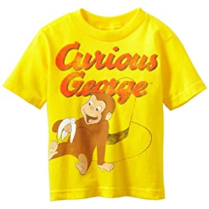 Curious George Little Boys' Toddler Short Sleeve T-Shirt, Yellow, 4T