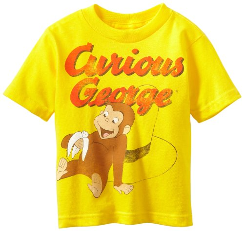 Curious George Little Boys' Toddler Short Sleeve T-Shirt, Yellow, 3T