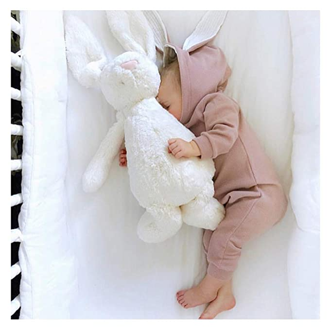 25bc147cbd5 Baby Rabbit Hooded Romper Cute Infant 3D Bunny Hoodie Onesies Newborn Zip  Jumpsuit Cotton Pajamas (