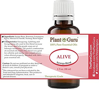 Alive Synergy Essential Oil Blend 1 oz / 30 ml 100% Pure, Undiluted, Therapeutic Grade. Anxiety, Depression, Relaxation, Boost Mood, Uplifting, Calming, Aromatherapy, Diffuser.