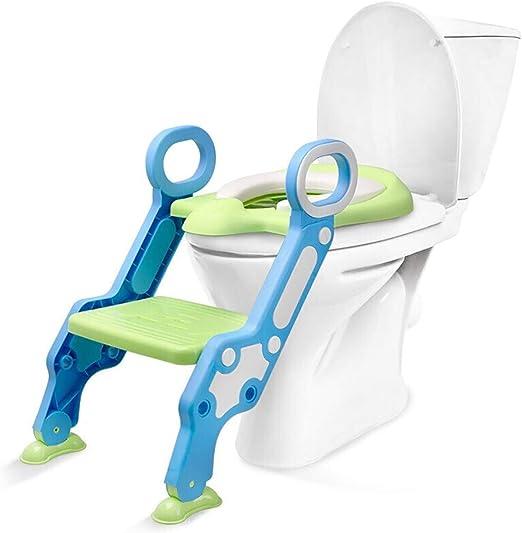 QFbp Baño Azul Escalera De Baño Asiento, Niños Niñas Paso De Entrenamiento WC Plegable Taburete Portátil: Amazon.es: Hogar