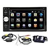 Android 4.2 Double Din 6.2''- inch Capacitive Touch Screen Car Stereo DVD Player Radio In Dash GPS Navi Navigation + Free Backup Reversing Parking Camera