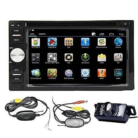 Amazon.com: Reproductor de DVD para coche con GPS y cámara ...