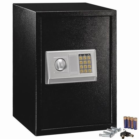 Safstar Large Digital Electronic Keypad Lock Security Safe Box for Money Gun Jewelry