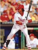 MICHAEL MARTINEZ PHILADELPHIA PHILLIES SIGNED AUTOGRAPHED AT BAT 8X10 PHOTO W/COA