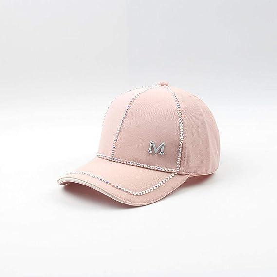 YanLong Diamante Brillante Color sólido Gorra de béisbol Casual ...