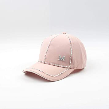 YanLong Diamante Brillante Color sólido Gorra de béisbol Casual ...