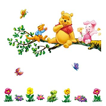Aokeshen 23.23*9.06inches Winnie l\'ourson sticker mural amovible ...