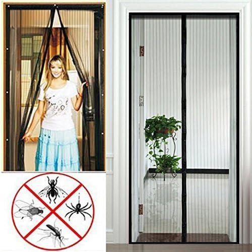 200cm Puerta de mosquitera magn/ética LMWB cortina de puerta de mosquitera anti mosca Animales aceptados para ni/ños y mascotas-El 100