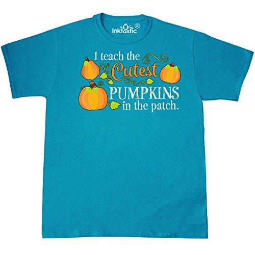 Inktastic - I Teach the Cutest Pumpkins in the T-Shirt XXX-Large Pacific Blue