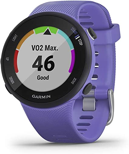 Garmin Forerunner 45S GPS Running Watch with Garmin Coach Training Plan Support - Iris, Small