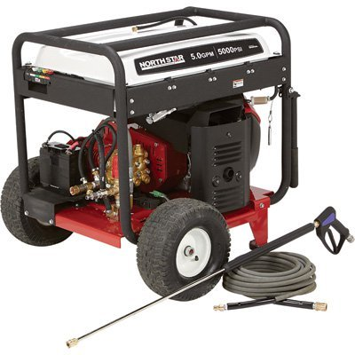 NorthStar Gas Cold Water Pressure Washer - 5000 PSI, 5.0 GPM, Electric Start, Honda Engine, Belt Drive, Model# 1572091 by NorthStar