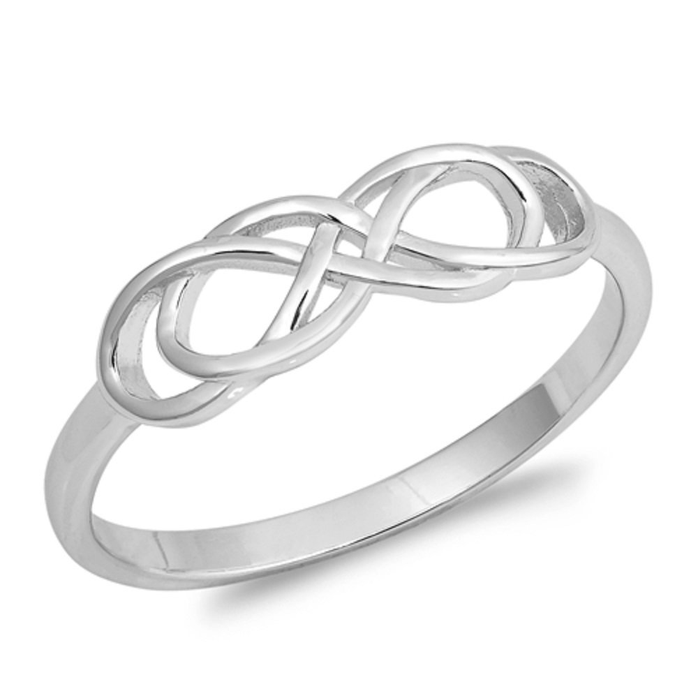 Princess Kylie 925 Sterling Silver Double Infinity Ring