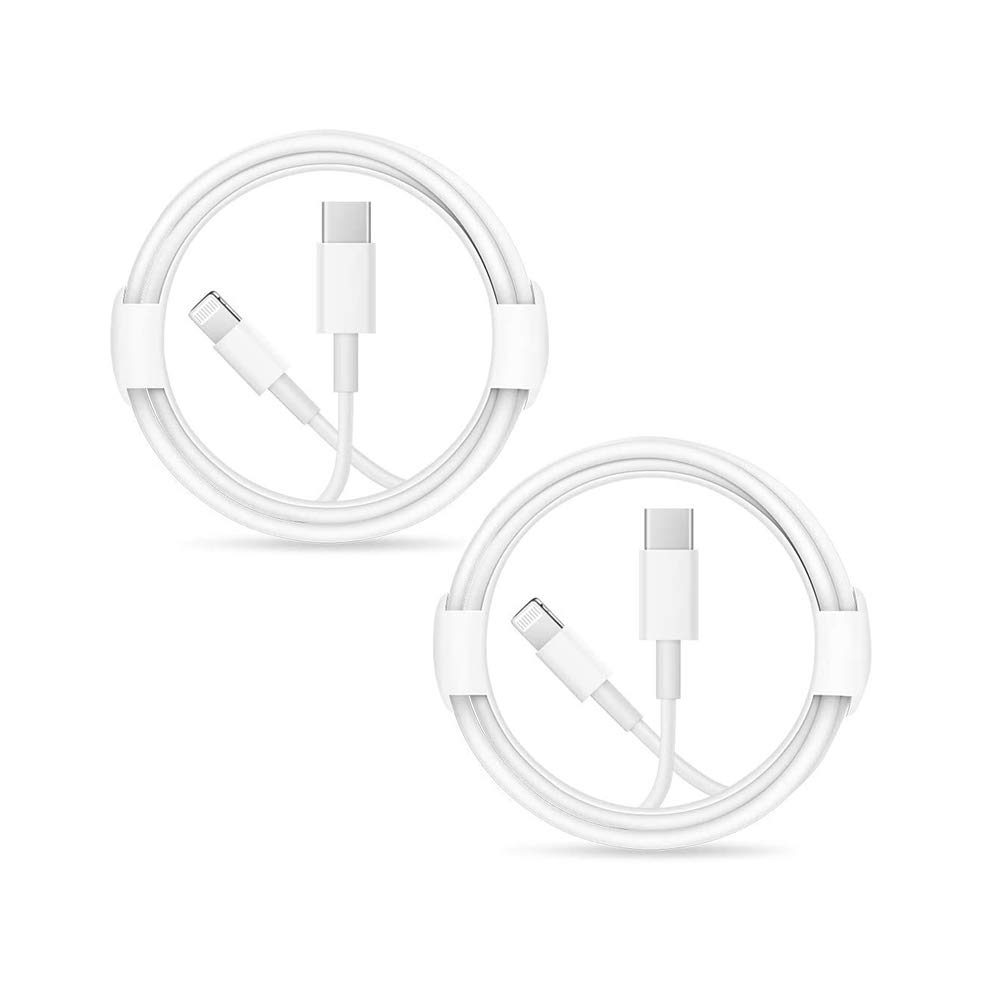 2PACK iPhone Fast Charger Cable ?Apple MFi Certified? USB-C to Lightning Cable Fast Charging Compatible iPhone 12/12 Pro Max/11/11 Pro Max/Xs Max/XR/X, iPad and More(White 1M/3.3FT) Original Certified