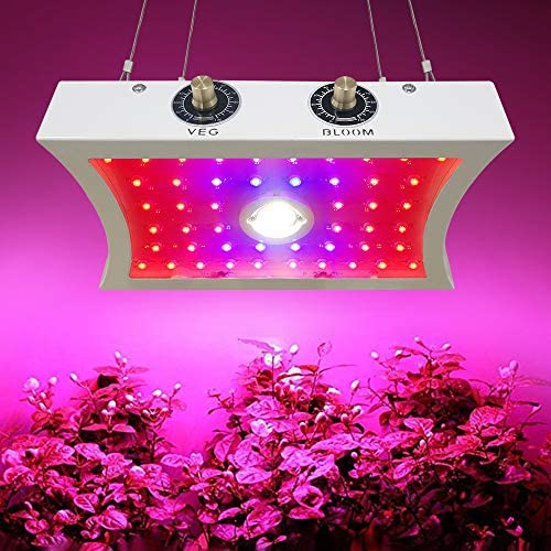 COB LED Grow Light for Indoor Plants, 1200W Double Chips Full Spectrum LED Plant Growing Lamp for Seedling Fruits Vegetables Flowers, Adjustable Veg Bloom Switch