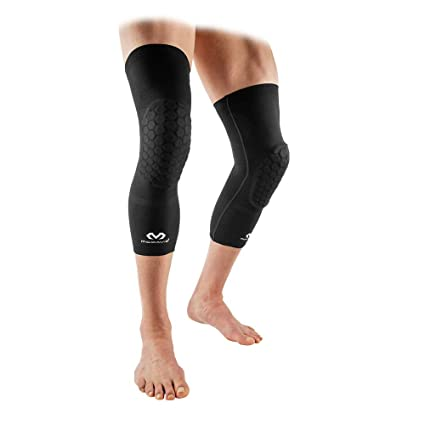 8a01ad45474f2e McDavid Elite Knee Compression Sleeves: Padded Compression Leg Sleeves -  Elastic Knit - For Basketball