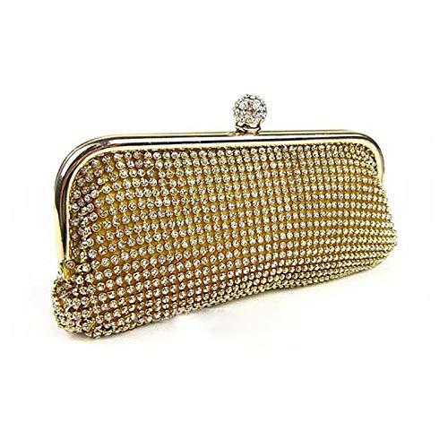 Bag Capacity Handbags Crystal Large Rhinestone Black Classic Silver Gold Evening Gold Tote Crystals Tote Cross Bags Body Women'S QZTG Bags handbag Nylon Wedding w4XaaH