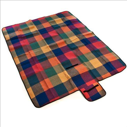 Manta de picnic colorida a cuadros 175x135cm: Amazon.es: Deportes y aire libre