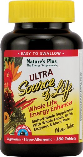 Nature's Plus - Ultra Source of Life with Lutein, 180 (180 Minitabs)