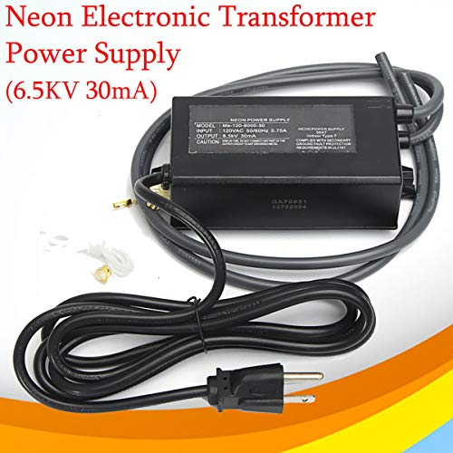 (FidgetKute Neon Sign Electronic Transformer 6.5KV RMS 9KV Peak Power Supply ME-120-9000-30)