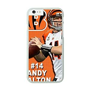 NFL Case Cover For Apple Iphone 4/4S White Cell Phone Case Cincinnati Bengals QNXTWKHE1164 NFL Phone Back Customized