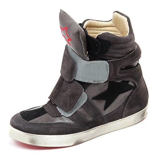 D2514 sneaker donna ISHIKAWA ISAD scarpe grigio/nero shoe woman grey/black Grigio/Nero