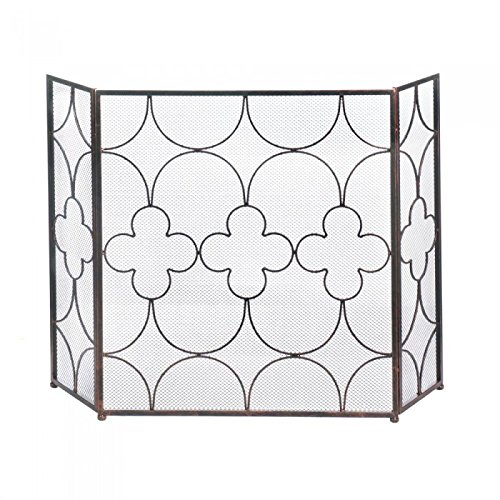 Zings & Thingz 57073519 Lucky Charm Fireplace Screen, Brown