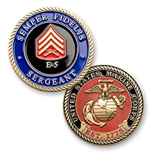 U.S. Marine Corps E-5 Sergeant Challenge Coin