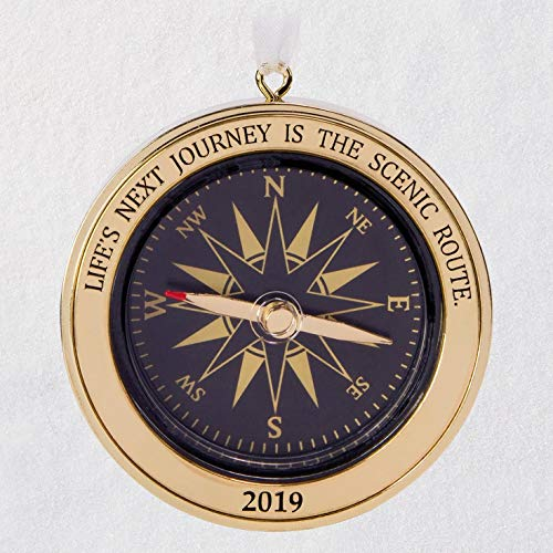 (Hallmark Keepsake Keepsake 2019 Year Dated Life's Next Journey Compass Direction Metal Ornament,)