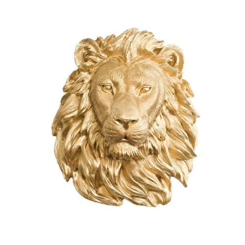 Large Plaque Hanging (Wall Charmers Large Faux Lion Head | The Saharan Room Decor Wall Art| Hand finished Home Decor, Farmhouse Decor, Bedroom Decor, Bathroom Decor, Office Decor Rustic Wall Decor Rustic Home Decor Accents)