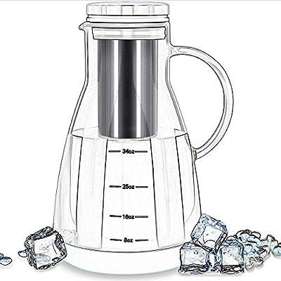 Cafetera de cristal transparente para cafetera fría, jarra de ...