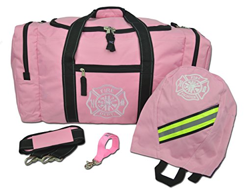 - Lightning X Firefighter Turnout Gear Package - Gear Bag, SCBA Mask Bag, Fire Glove Strap, Shoulder Strap (Pink)