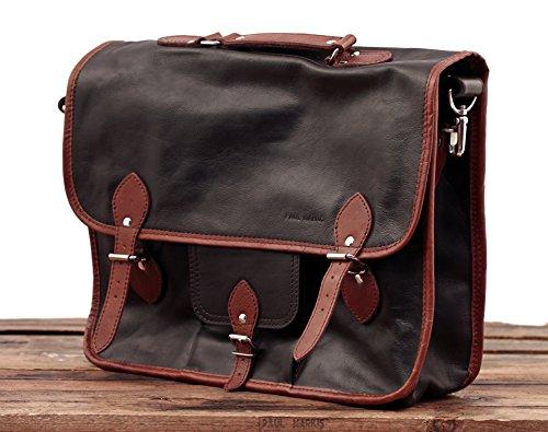 estilo de cuero PAUL GRAND vintage marrón de Marrón MARIUS bicolor bandolera EXPRESS L cuero Maletín LE bandolera oscuro oscuro mochila BOxfqgPP