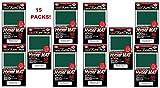 KMC Hyper Matte Sleeves Green ×15 Sets (15 Packs/total 1200 Sheets) ( Japan Import )