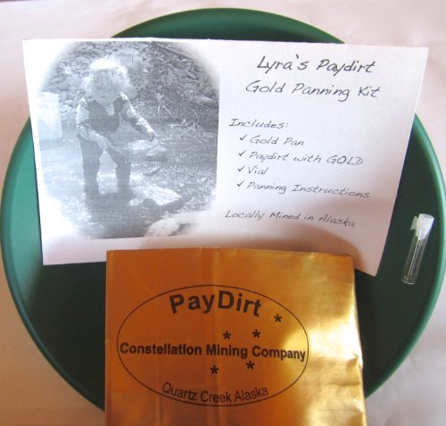 Constellation Mining Company Gold Panning Kit with Alaska Paydirt (Best Gold Mining Companies)