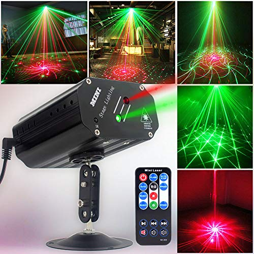 Party Lights Disco Lights DJ Lights, GOOLIGHT Sound Activated Strobe Light Projector Stage Light Effects with Remote Control for Home Room Dance Parties Birthday Bar KTV Karaoke Xmas Holiday Club Pub -