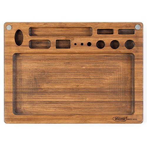 Beamer Val All-Natural Bamboo Rolling Tray - Original Finish - 10 X 7 inch by Beamer