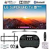 LG 55SK8000PUA 55' 4K AI Ultra HD TV w/ThinQ + Wireless Keyboard + Wall Bracket Bundle