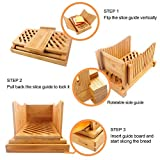Purenjoy Bamboo Wood Foldable Bread Slicer