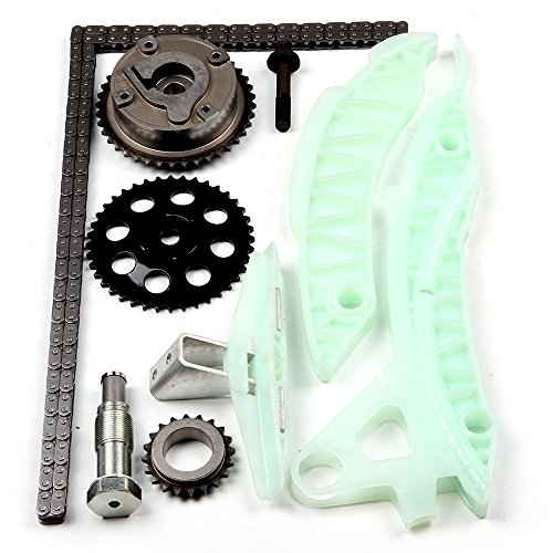 Engine Timing Chain Kit,ECCPP Automotive Replacement Timing Parts without Water Pump Sets for 2007-2010 Mini Cooper s Clubman R55-59 N14 with Camshaft VVT Gear