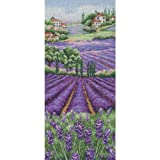 Maia 16 Count Provence Lavender Landscape Counted Cross Stitch Kit, 12-1/2-Inch by 5-1/2-Inch