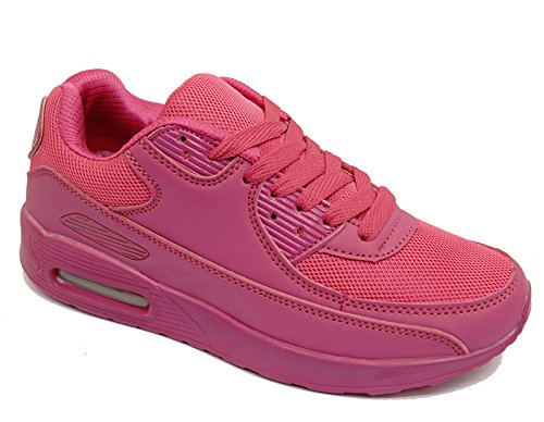 8 Womens up Pumps Trainers Sizes 3 Plimsolls Running Lace Sports Pink Casual Shoes w67wCqax